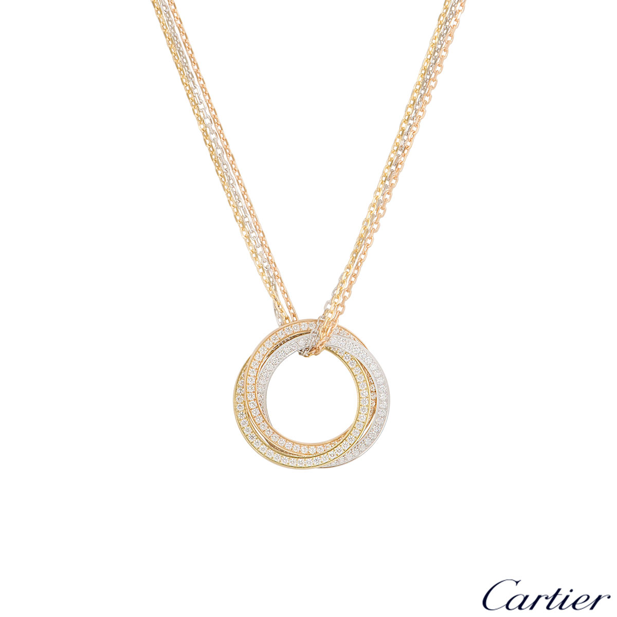 Cartier Tri-Colour Diamond Trinity De Cartier Necklace